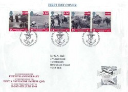 1994 D Day, Racal-Decca Marine Navigation Special FDC, First Day of Issue Portsmouth H/S