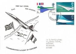1969 Concorde, Unusual Cover Design FDC, Filton Bristol FDI