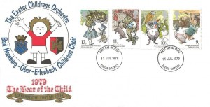 1979 Year of the Child, Exeter Children's Orchestra Special FDC,  Exeter District FDI