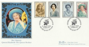 1990 Queen Mother 90th Birthday Radio Times Covercraft Official FDC, London W1 H/S