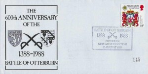 1988 The 600th Anniversary of the Battle of Otterburn 1388-1988 Cover, Battle of Otterburn, Newcastle Upon Tyne H/S