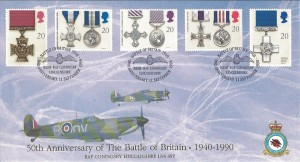 1990 Gallantry, 50th Anniversary of the Battle of Britain RAF Coningsby, Covercraft Official, BBMF RAF Coningsby Lincolnshire H/S