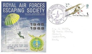 1968 British Anniversaries, RAF Escaping Society 1945-1968 Official FDC, Royal Air Force Escaping Society BFPO 1067 H/S in Purple