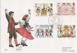 1981 Folklore, Swiss Philatelics Special FDC, Philatelic Bureau H/S