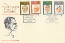 1980 British Conductors, Malcolm Sargent Cancer Fund for Children FDC, Famous British Conductors Bedford H/S