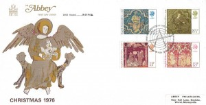 1976 Christmas, Abbey FDC, First Day of Issue Bethlehem H/S (also in Welsh)