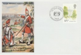1980 London Landmarks Royal Marines Association Official FDC, The Royal Marines 25th Anniversary of the Freedom of Plymouth British Forces 1694 Postal Service H/S