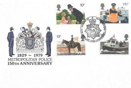 1979 Police, Cotswold Official FDC, New Scotland Yard Metropolitan Police London SW1 H/S