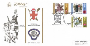 1971 General Anniversaries, Abbey FDC, First Day of Issue York H/S