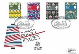 1982 British Textiles, Peter Scott Official FDC, Textile Exhibition Bradford Industrial Museum Bradford West Yorkshire H/S