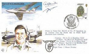 1982  Royal Air Force Museum Cover, 30th Anniversary of the First Flight of the Victor, Jersey, Signed.