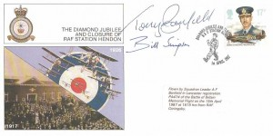 1987 Set of 5 Diamond Jubilee and Closure of RAF Station Hendon, Limited Edition Covers, Signed & Flown.