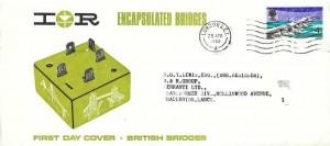 1968 British Bridges, IOR Encapsulated Bridges FDC, London SE1 cancel