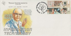1982 Information Technology, Texas Instruments Official FDC, Information Technology Year 1982 H/S.