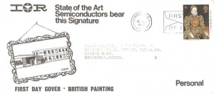 1968 British Paintings, International Rectifiers FDC, 4d Only, First Day of Issue London SE1 Slogan.