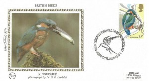 1980 British Birds, Set of 4 Benham Small Silks, with 4 different H/S's