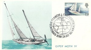 1967 Sir Francis Chichester, Cameo Maxicard, Sir Francis Chichester Plymouth Devon H/S.