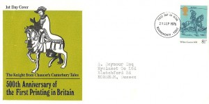 1976 William Caxton 500th Anniversary of First Printing in Britain, Illustrated FDC, Bournemouth & Poole FDI.