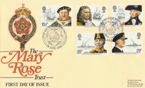1982 Maritime, Heritage Mary Rose Trust FDC, First Day of Issue Portsmouth H/S