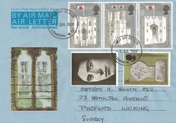 1969 Prince of Wales Investiture, Investiture Air Letter, serviced with full set of stamps, London WC FDI.