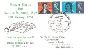 1966 Robert Burns, Scarce Illustrated cover design, That Man to Man the Warld O'er, Shall brothers be for a' that Alloway H/S.