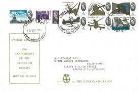 1965 25th Anniversary of the Battle of Britain, The London Assurance FDC, London EC FDI.