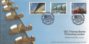 1983 Engineering, Design Encounters (Covercraft) Official FDC, The GLC Thames Barrier Protecting London Woolwich Reach SE7 H/S.