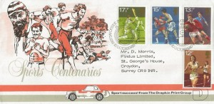 1980 Sporting Anniversaries, Drapkin Print Group FDC, First Day of Issue Philatelic Bureau Edinburgh H/S.