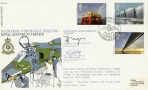 1983 Engineering RFDC.19 Official FDC, RAF Cosford BF1806PS H/S, Signed