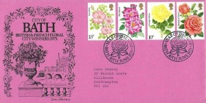 1976 Roses, City of Bath Official FDC, Year of the Rose Bath H/S