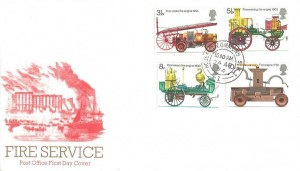 1974 Fire Service, Post Office FDC, House of Commons SW1 cds.