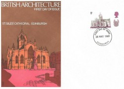 1969 British Cathedrals, Set of 6 Trident FDC's, with Appropriate Postmarks.