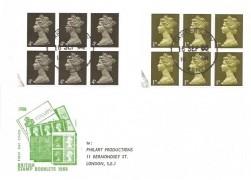 1968 4/6d Golden Hind Booklet, Philart FDC, Canterbury Kent cds.