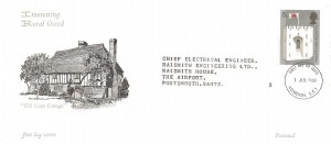 1969 Prince of Wales Investiture, Rural Oxted FDC, 5p Stamp only, London SE1 FDI.