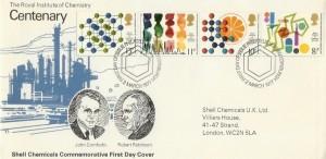 1977 Chemistry Shell Chemicals UK Ltd Special FDC, Philatelic Bureau Edinburgh H/S
