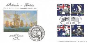 1988, Australian Bicentenary, Bradbury LFDC 69 Official FDC, Bicentenary of Australia London SW1 H/S