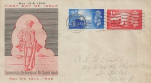 1948 Channel Islands Liberation, Illustrated FDC, Jersey Cancel