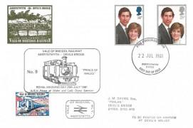 1981 Royal Wedding, Vale of Rheidol Railway FDC, Aberystwyth Dyfed FDI