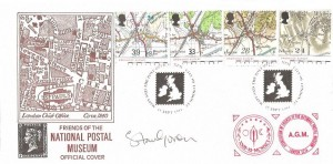 1991 Maps, Friends of the National Postal Museum Official FDC, Maps and The Post Office NPM City of London EC H/S, Signed & AGM Cachet