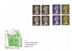 1968 2s Machin ,Philart Booklet FDC, London SE1 cds