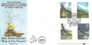 1979 British Flowers, Benham BOCS 8 Official FDC, Nat. Assoc. Flower Arrangment Socs. St. Mary's Isles of Scilly H/S.