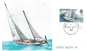 1967 Sir Francis Chichester, Philatelic Printing & Publishing Maximum Card, Dockhead SE1 cds