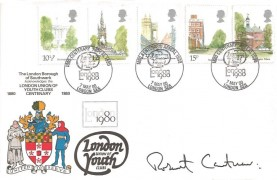 1980 London Landmarks, London Union of Youth Clubs Official SP Card, 1880 Centenary Appeal 1980 London SE5 H/S, Signed by Robert Cantuar
