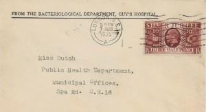 1935, King George V Silver Jubilee, Guy's Hospital Envelope FDC, 1½d Jubilee Stamp, London SE1 Cancel