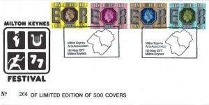 1977 Silver Jubilee, Milton Keynes Festival Official Cover, Milton Keynes Arts Association H/S