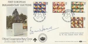 1979 European Elections Benham BOCS 10. Signed by Edward Heath