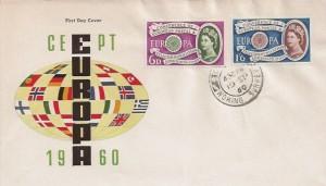 1960 Europa, Illustrated FDC, Chobham Woking Surrey cds
