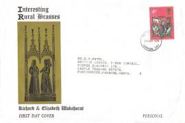 1970 Christmas, Interesting Rural Brasses FDC, 4d Stamp only, London SE1 FDI