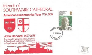 1976 American Bicentenary, Friends of Southwark Cathedral FDC, London SE1 FDI
