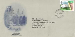 1984 Urban Renewal, Blakedown Nurseries Ltd, FDC, 16p stamp only, Kidderminster Worcs. FDI